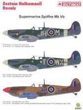 Techmod Decals 1/24 SUPERMARINE SPITFIRE Mk-Vb British Fighter