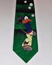 Daffy Duck Cravate Golf Player Cartoon Personnage Nouveauté Vintage 1990 S Sports Tie