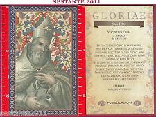 C121 SANTINO HOLY CARD S. SAN TITO VESCOVO DI CRETA 26 GENNAIO