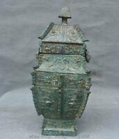 Visage de bête du palais de la dynastie en bronze de Chine ancienne de 12 po