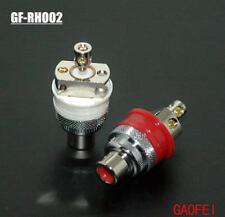 2pcs Gaofei GF-RHO02 Rhodium Eutectic Brass Non Solder RCA socket connector