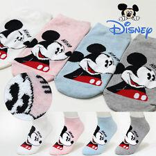 4 Pairs Women Girls Big Kids Disney Character Socks Mickey Mouse Cartoon Socks