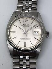 Vintage Raro Rolex Oyster Perpetual Datejust Blanco Oro Bazel Ref. 1601.