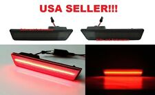 SMOKED LENS RED LED REAR SIDE MARKER LIGHT SET for 2011 - 2014 DODGE CHARGER