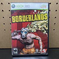 Borderlands (Microsoft Xbox 360, 2009) No Manual- Tested - Free Shipping