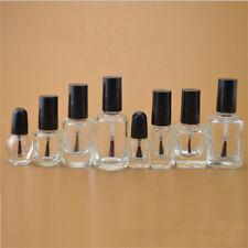5ml-20ml Empty Glass Nail Polish Bottle With Brush Nail Oil Glass Bottles 10pc B