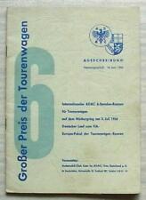 NURBURGRING 3 Jul 1966 GROBER PREIS DER TOURENWAGEN Official Programme