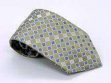 Jones New York Tie Green Blue Geometric Silk 58 x 3.75 USA 1700 Ties 4 Sale