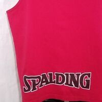 Spalding Athletic Tank Top Vintage 90s Muscle Sleeveless T Shirt Made In USA XL