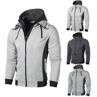 Men Hoodie Snow Warm Hooded Zip Thick Hoody Outwear Coat Jacket Top Sweatshirt