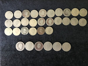 EL SALVADOR VINTAGE COIN COLLECTION 32 COINS MIXED DATES FROM 1916 to 1948