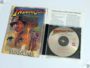 PC IBM INDIANA JONES AND THE FATE OF ATLANTIS JEWEL CASE CD-ROM COMPUTER GAME