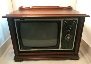 "Vintage Retro 9"" RCA Miniature Wood Cabinet Television"