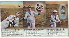 "BAMFORTH - ""SANDS Of The DESERT GROW COLD"" Set of 3 Song Card Postcards 4941/1-3"