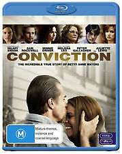 CONVICTION - BRAND NEW & SEALED BLU RAY (HILARY SWANK, SAM ROCKWELL) TRUE STORY