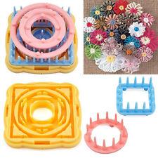 9PCS Flower Knitting Loom Knit Daisy Pattern Maker Wool Yarn Needle Craft Kit #P