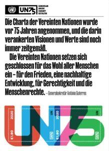 UN Wien Mi.Nr. Block 60** (2019) postfrisch/75 Jahre Vereinte Nationen (UNO)