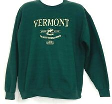 Vermont Green Mountain State Crewneck Sweatshirt Country Store Size Large