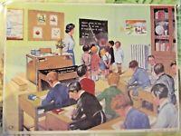Set de Table Objet de Métier Affiche Scolaire La Classe dans les années 1950...