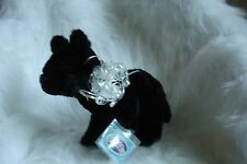 WEBKINZ BLACK WOLF -NEW W/ SEALED CODE + 3 PACKS OF TRADING CARDS- FREE SHIPPING