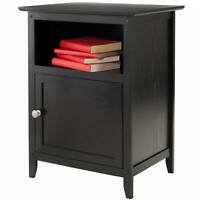 Nightstand Accent Table Bed Side Lamp Stand Display Storage Small Cabinet Wooden