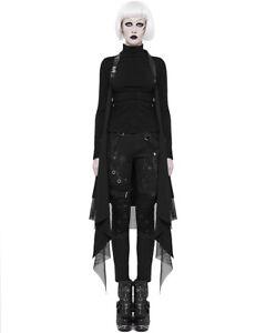 Punk Rave Womens Dieselpunk Waistcoat Cloak Cape Shrug Black Gothic Punk Occult