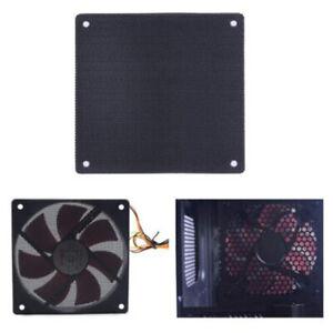 5pcs PVC Computer Cooler Fan Filter Cover Mesh + 5pcs Dust Filter Blanking PALTM