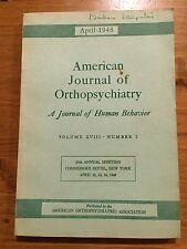 American Journal of Orthopsychiatry April 1948 Psychiatry Lantz Reider Judkins