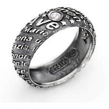 AMEN anello a fascia Ave Maria Preghiera Argento 925 AAM-18 Misura 18