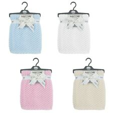 personalised  embroidered BABY WAFFLE BLANKET 75CM-90CM 4 colors SUPER SOFT