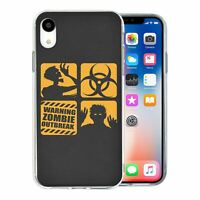 For Apple iPhone XR Silicone Case Zombie Bio Chemical - S582