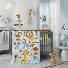 Lambs & Ivy Happi Jungle by Dena 5 Piece Baby Crib Bedding Set with Bumper
