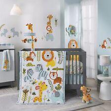 Lambs & Ivy Happi Jungle by Dena 6 Piece Baby Crib Bedding Set w Bumper & Mobile
