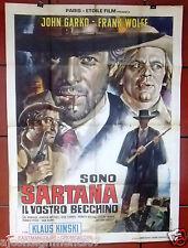 SONO SARTANA IL VOSTRO BECCHINO (John Garko) Italian 2F Movie Poster 1960s