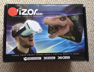 Vizor Pro Virtual Reality VR Headset Smartphone Google Play Store Apple Aps NEW