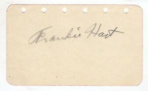 Frankie Hart Cut Signature! Autograph! NWA Wrestling! The Flying Dutchman!