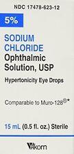 Paquete De 5-solución de cloruro sódico Akorn 15 ml cada uno