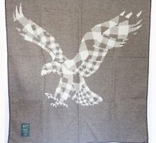 NWT Woolrich X AEO Eagle Jacquard Wool Blanket Throw 46 X 60 Made In USA $125