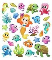 Multicolored Stickers Glitter Mermaids 679924455717