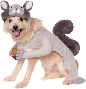 Squirrel Dog Costume - M or L - Plush Fleece Shirt with Headpiece - Rubie's NWT