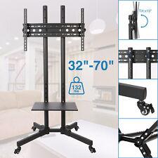 "Tv Stand Mobile Cart w/ Storage Shelf fits 32 36 40 42 46 47 50 55 60 65 70"""