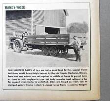 Original 1947 Handy Farmer Ad Photo Endorsed Marvin Nourie, Martinton, Illinois
