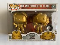 New FUNKO POP RIC & CHARLOTTE FLAIR WWE 2019 SDCC COMIC CON EXCLUSIVE DEBUT