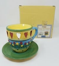 Debbie Mumm TEACUP TART WARMERS Thoughts of Home 8706 New in Box Hearts Flowers