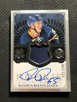 2013-14 UPPER DECK THE CUP RASMUS RISTOLAINEN ROOKIE AUTO PATCH #ed 2/249
