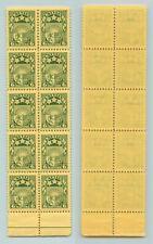 Latvia 🇱🇻 1931 SC 155 MNH block of 10 folded . rtb3020