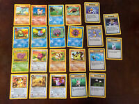 Lot Of 22 Vintage Common Uncommon Pokemon WOTC Cards Fossil Base Set