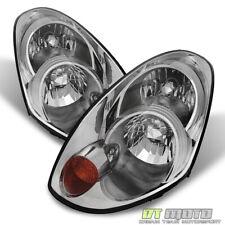[HID Model] 2005-2006 G35 G35X Sedan Chrome Headlights Headlamps Replacement Set