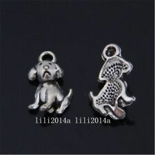 5 Tibetan Silver  Charms  puppy dogs Jewellery Making Crafts uk stock fast