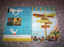 ALBUM ITALIA ED.LA FOLGORE 1965 (CROCEVIA) Q.COMPLETO(-24 FIG) MB/OTT NO PANINI